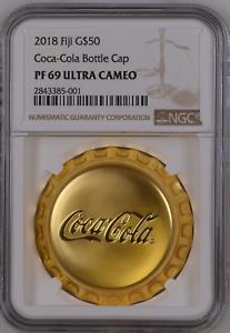 Click now to see the BUY IT NOW Price! PROOF NGC PF69 ULTRA CAMEO COCA COLA BOTTLE CAP 1OZ GOLD COIN 2018 $50 FIJI