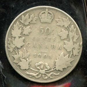 1905 KEY DATE CANADA FIFTY CENTS   ICCS G 6