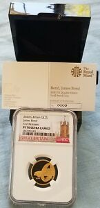 Click now to see the BUY IT NOW Price! 2020 UK 007 BOND JAMES BOND 1/4OZ GOLD NGC PF70 UC FIRST RELEASES LOW COA 009