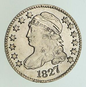 1827 CAPPED BUST DIME   CIRCULATED  5004
