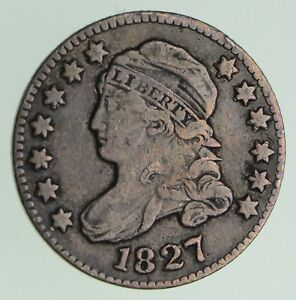 1827 CAPPED BUST DIME   CIRCULATED  7238
