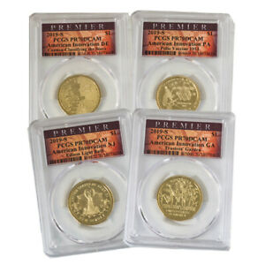 Click now to see the BUY IT NOW Price! 2019 INNOVATION DOLLAR 4PC PROOF SET    PCGS 70 PREMIER