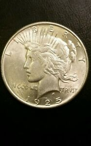1925 PEACE DOLLAR U.S. PHILADELPHIA MINT 90  SILVER COIN
