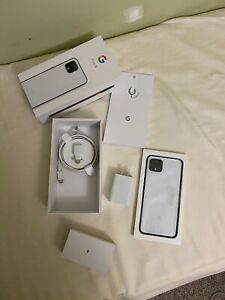 GOOGLE PIXEL 4 128GB CLEARLY WHITE  UNLOCKED DEVICE