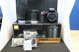 NIKON D5600 DIGITAL SLR CAMERA WITH AF P DX NIKKOR 18 55 AND 70 300 ED LENSES