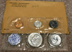 One Each P /& D United States Treasury Brass Mint Token Set In Mint Cello Packs