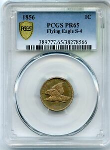 Click now to see the BUY IT NOW Price! 1856 FLYING EAGLE S 4 CENT PCGS PR65 CERTIFIED 1C PENNY COIN   JJ048
