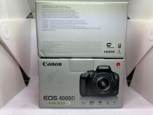CANON EOS 4000D / T100 WITH EF S 18 55MM III LENS DIGITAL SLR CAMERAS FROM USA