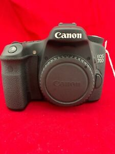 CANON EOS 70D 20.2MP DIGITAL SLR CAMERA MINT FULLY TESTED