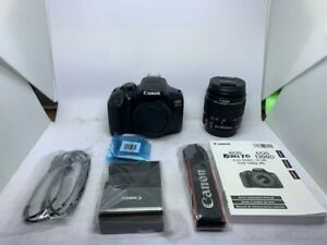CANON EOS REBEL T6 DIGITAL SLR CAMERA KIT WITH EF S 18 55MM F/3.5 5.6 IS II LENS