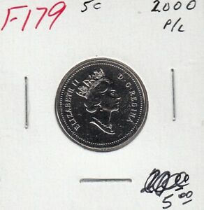 2000W CANADA 5 CENTS PROOF-LIKE NICKEL COIN
