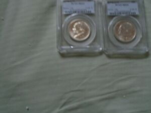 Click now to see the BUY IT NOW Price! 2 BRIDGEPORT COMM MS 64 .50 1936 COINS SS
