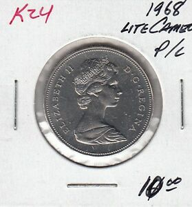 K24 CANADA 50C COIN 1968 PROOF LIKE LITE FROSTED CAMEO DESIGN $10.00