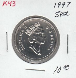 K43 CANADA 50C   50 CENTS COIN 1997 SPECIMEN FROM 1997 SPECIMEN COIN SET $10.00