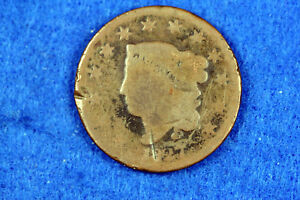 ESTATE FIND 1827 CORONET HEAD LARGE CENT  D13624