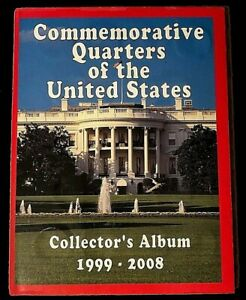 NEW COMMEMORATIVE QUARTERS OF THE UNITED STATES COLLECTOR'S ALBUM 1999 TO 2008