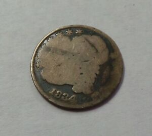 1834 CAPPED BUST LIBERTY DIME 10C COIN