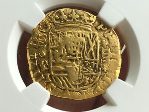 Click now to see the BUY IT NOW Price! UNIQUEGOLD COB 4 ESCUDOS PHILIP IV 1639 MADRID MINT BI NGC XF45