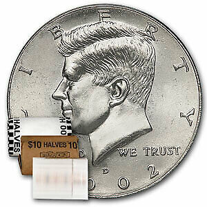 Click now to see the BUY IT NOW Price! 2002 D KENNEDY HALF DOLLAR 20 COIN ROLL BU   SKU9108
