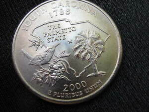 2000 P UNC SOUTH CAROLINA QUARTER WITH AN EXTRA BRANCH  ERROR
