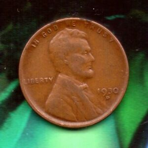 1930 D PENNY   CIRCULATED   TOTAL PRODUCED: 40 100 000    30D0523