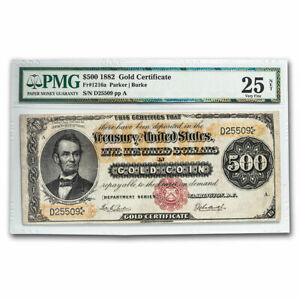 Click now to see the BUY IT NOW Price! 1882 $500 GOLD CERTIFICATE VF 25 PMG   SKU209230