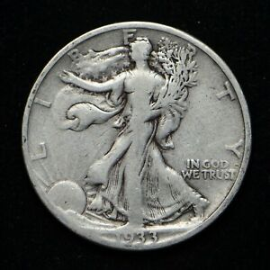 1933 S WALKING LIBERTY SILVER HALF DOLLAR CLEANED  BB4754