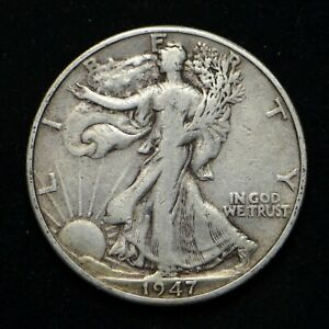 1947 D WALKING LIBERTY SILVER HALF DOLLAR  BB4761