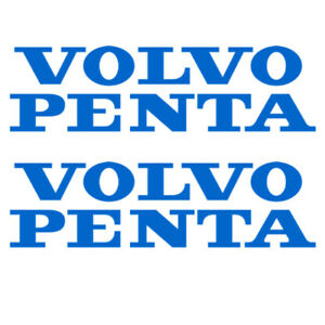 VOLVO PENTA Stickers x 2, in Blauw Vinyl 190mm x 50mm  - EUR 5.72