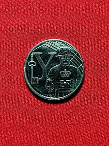 10P COIN ALPHABET A Z Y FOR  YEOMAN