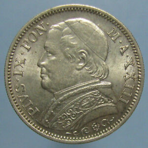 Click now to see the BUY IT NOW Price! NICELY TONED UNCIRCULATED 1868 VATICAN PIUS IX LIRA
