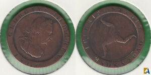 ISLA DE MAN   ISLE OF MAN. 1/2 PENIQUE  PENNY  DE 1813.