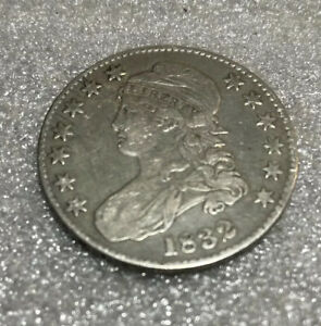 1832 CAPPED BUST LETTERED EDGE HALF DOLLAR SILVER COIN