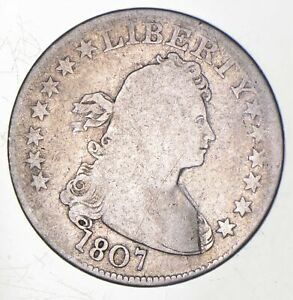 1807 DRAPED BUST QUARTER  8738