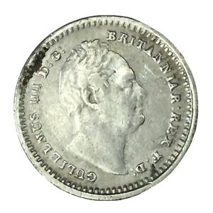 1834 GREAT BRITAIN SILVER 1.5 PENCE VF  DETAILS UNCERTIFIED
