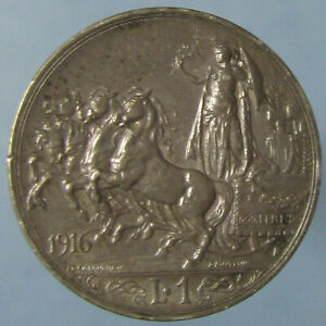 Click now to see the BUY IT NOW Price! HIGH GRADE DEEPLY TONED 1916 ITALIAN ONE LIRA