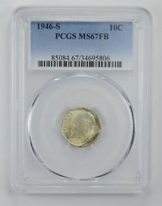 MS67 FB 1946 S ROOSEVELT DIME   GRADED PCGS  4052