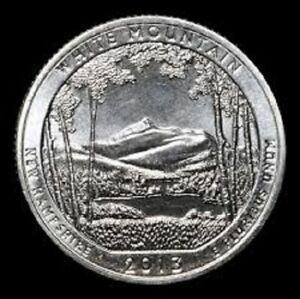 2013 S WHITE MOUNTAIN:   A.B.T.QUARTER    BRILLIANT UNCIRCULATED