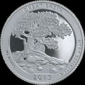 2013 P GREAT BASIN:   A.B.T.QUARTER    BRILLIANT UNCIRCULATED