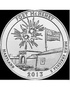 2013 P FORT MC HENRY:   A.B.T.QUARTER    BRILLIANT UNCIRCULATED