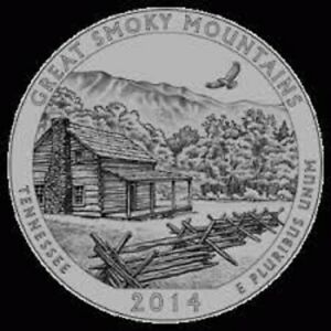 2014 D GREAT SMOKEY MOUNTAINS:   A.B.T.QUARTER    BRILLIANT UNCIRCULATED