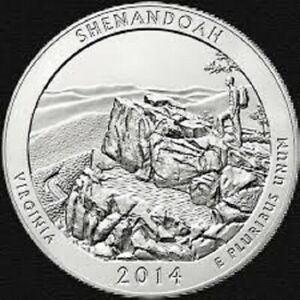 2014 P SHENANDOAH:   A.B.T.QUARTER    BRILLIANT UNCIRCULATED