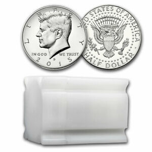 Click now to see the BUY IT NOW Price! 2015 D KENNEDY HALF DOLLAR 20 COIN ROLL BU   SKU214243