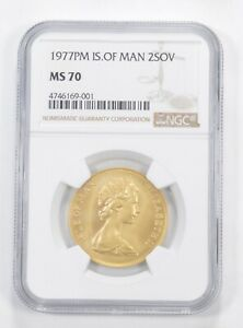 Click now to see the BUY IT NOW Price! MS70 1977 PM ISLE OF MAN 2 SOVEREIGN   GRADED NGC  5893