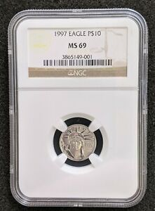 1997 PLATINUM $10 EAGLE NGC MS 69