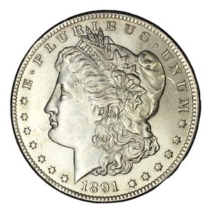 1891 CC $1 MORGAN SILVER DOLLAR