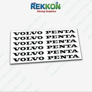 x6 VOLVO PENTA High Cast Zwart Sticker Stickers T50R Penta BTCC XC90 Moose Sweden  - EUR 8.16