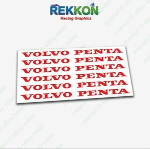x6 VOLVO PENTA High Cast Rood Sticker Stickers T50R Penta BTCC XC90 Moose Sweden  - EUR 8.16