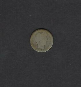US 1896 O BARBER SILVER DIME COIN IN AG   G GOOD CONDITION