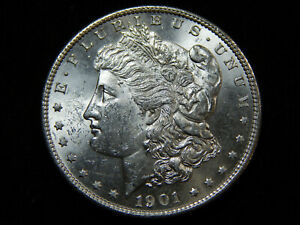 1901 S $1 MORGAN DOLLAR MS    BU UNC TOUGH IN HIGH GRADE  BLAST WHITE